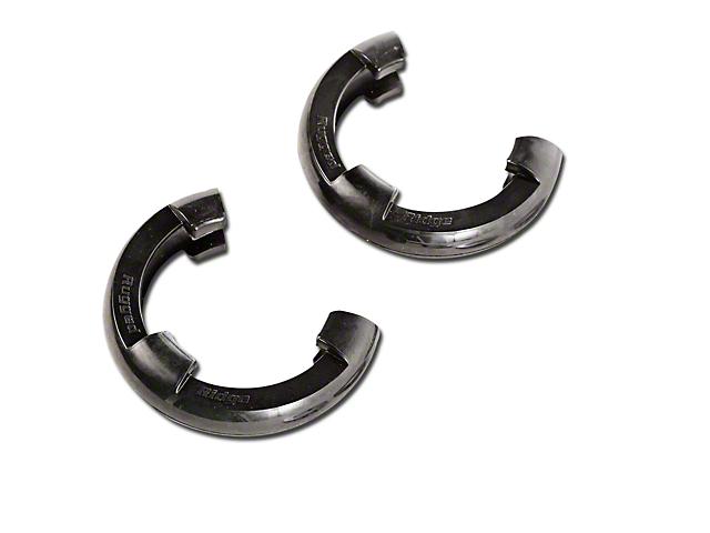 Rugged Ridge 7/8-Inch D-Ring Shackle Isolators; Black; Set of Two