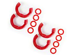 Rugged Ridge 7/8 in. Red D-Ring Shackle Isolators - Set of Four