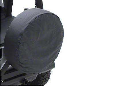 Rugged Ridge 27-29 in. Spare Tire Cover - Black (87-18 Jeep Wrangler YJ, TJ, JK & JL)
