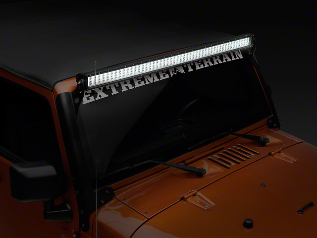 Raxiom 50-Inch 4-Row High Power LED Light Bar; Spot/Spread Combo Beam