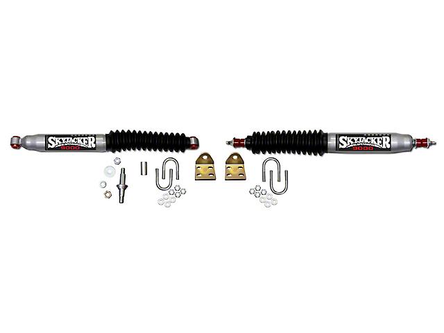 SkyJacker Silver 9000 Dual Steering Stabilizer Kit (97-06 Jeep Wrangler TJ)