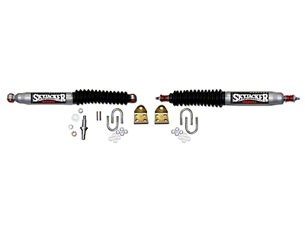 SkyJacker Silver 9000 Dual Steering Stabilizer Kit (97-06 Wrangler TJ)