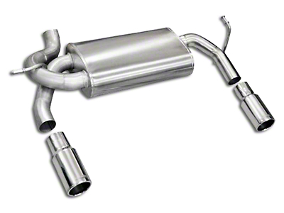 Corsa 2.5 in. Sport Axle-Back Exhaust w/ Dual Polished Tips (07-18 Jeep Wrangler JK)