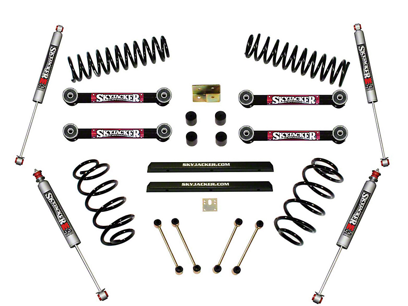 SkyJacker 4 in. Standard Series Suspension Lift Kit w/ M95 Performance Shocks (97-06 Jeep Wrangler TJ)