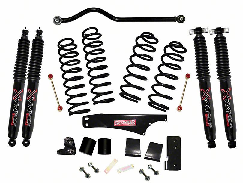 SkyJacker 4 in. Softride Suspension Lift Kit w/ Black MAX Shocks (07-18 Jeep Wrangler JK 4 Door)