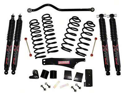 SkyJacker 4 in. Softride Suspension Lift Kit w/ Black MAX Shocks (07-18 Jeep Wrangler JK 4 Door)