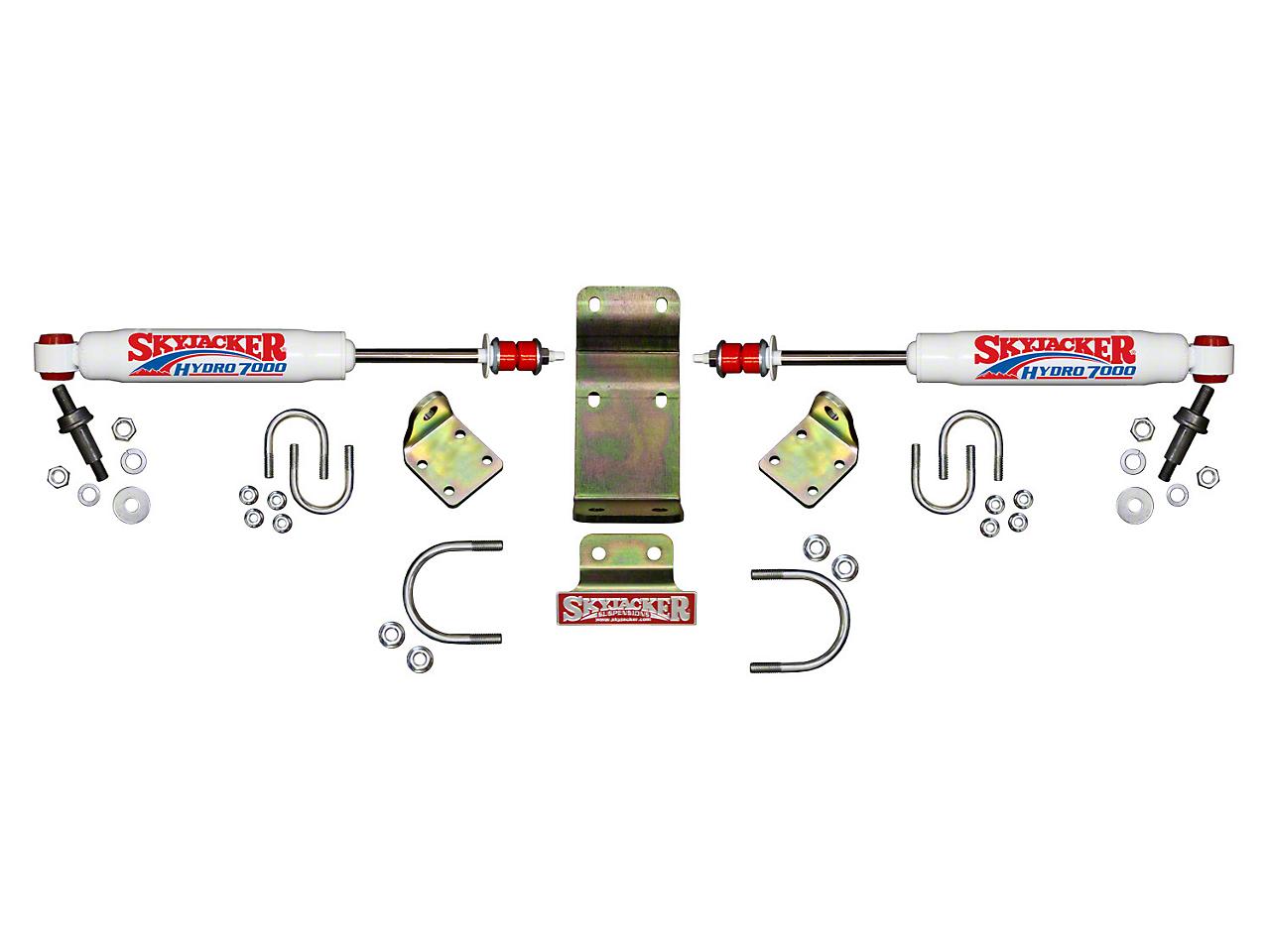 SkyJacker Hydro 7000 High Clearance Dual Steering Stabilizer Kit (07-18 Wrangler JK)