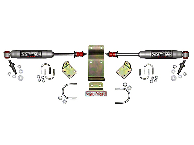 SkyJacker Silver 9000 High Clearance Dual Steering Stabilizer Kit (07-18 Jeep Wrangler JK)