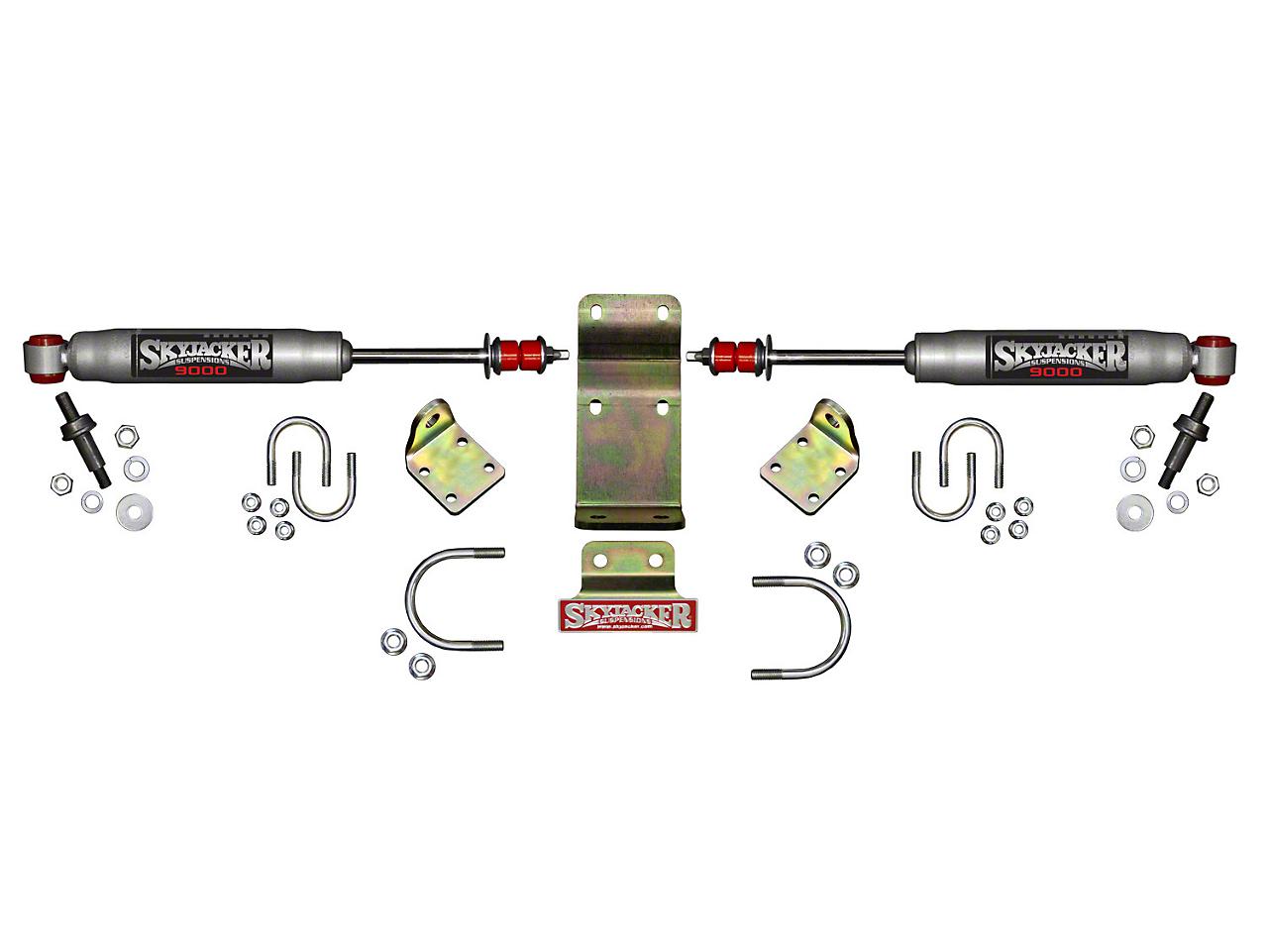 SkyJacker Silver 9000 High Clearance Dual Steering Stabilizer Kit (07-18 Jeep Wrangler JK)