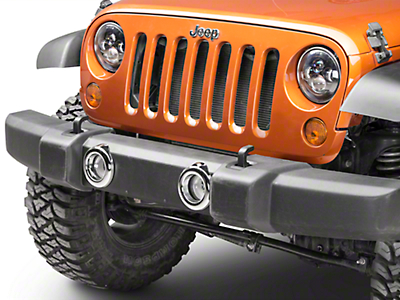 Chrome Fog Light Bezels (07-18 Jeep Wrangler JK)