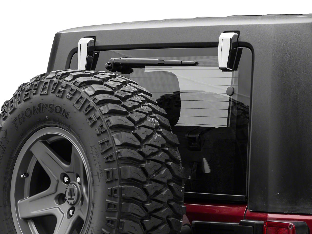 Putco Chrome Rear Upper Hinge Covers (08-18 Jeep Wrangler JK)