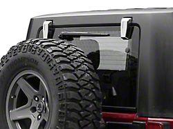 Rear Upper Hinge Covers; Chrome (08-18 Jeep Wrangler JK)