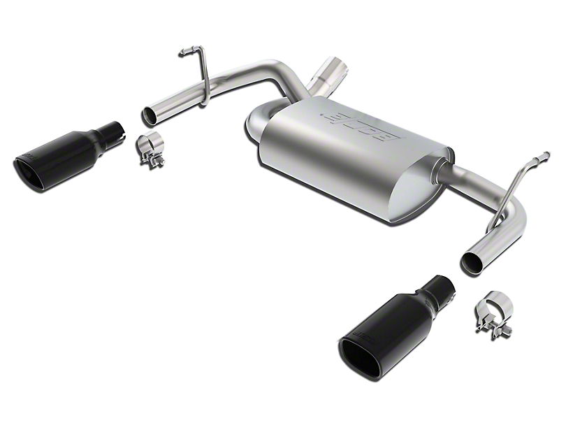 Borla Touring Axle-Back Exhaust with Black Chrome Tips (12-18 Jeep Wrangler JK)