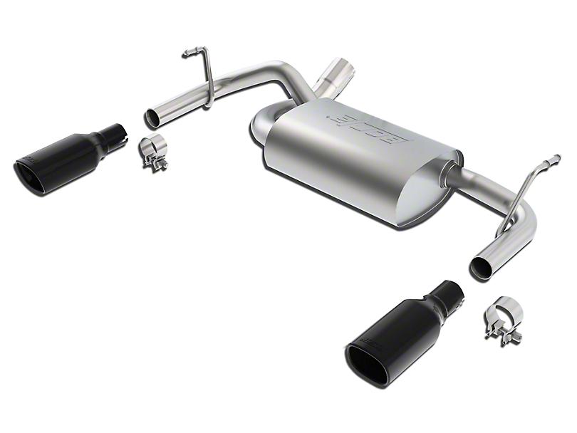 Borla Touring Axle-Back Exhaust w/ Black Chrome Tips (12-18 Jeep Wrangler JK)