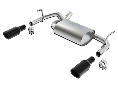 Borla Touring Axle-Back Exhaust w/ Dual Black Chrome Tips (12-18 Wrangler JK)