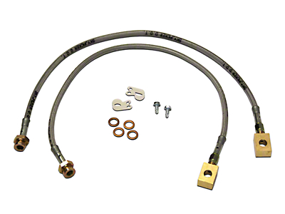 SkyJacker Front Stainless Steel Brake Lines for 3.5-6 in. Lift (87-95 Wrangler YJ)