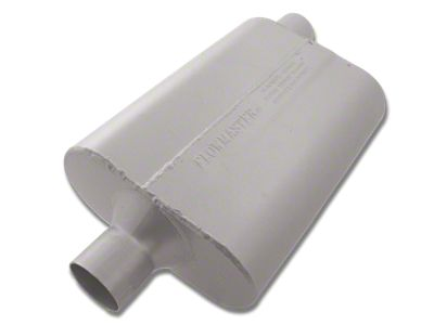 "PERFORMANCE STREET STRIP CHAMBER MUFFLER 40 SERIES ALUMINIZED 3/"" OFFSET CENTER"