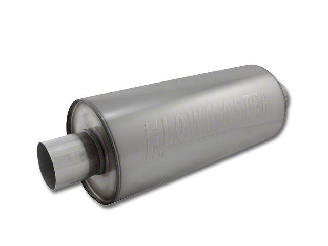 Flowmaster dBX Series Center/Center Bullet Style Muffler; 2.50-Inch (97-18 Jeep Wrangler TJ & JK)