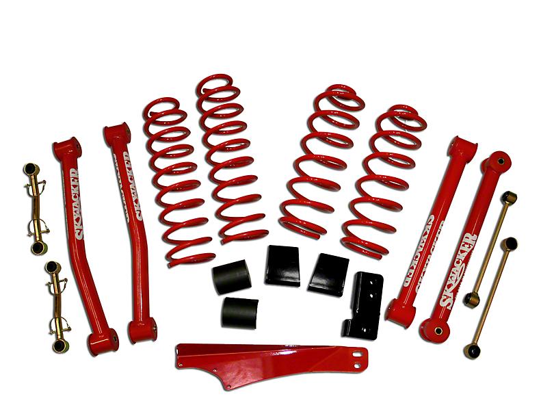 SkyJacker 2.50 to 3.50-Inch Standard Suspension Lift Kit with Shocks (07-18 Jeep Wrangler JK)