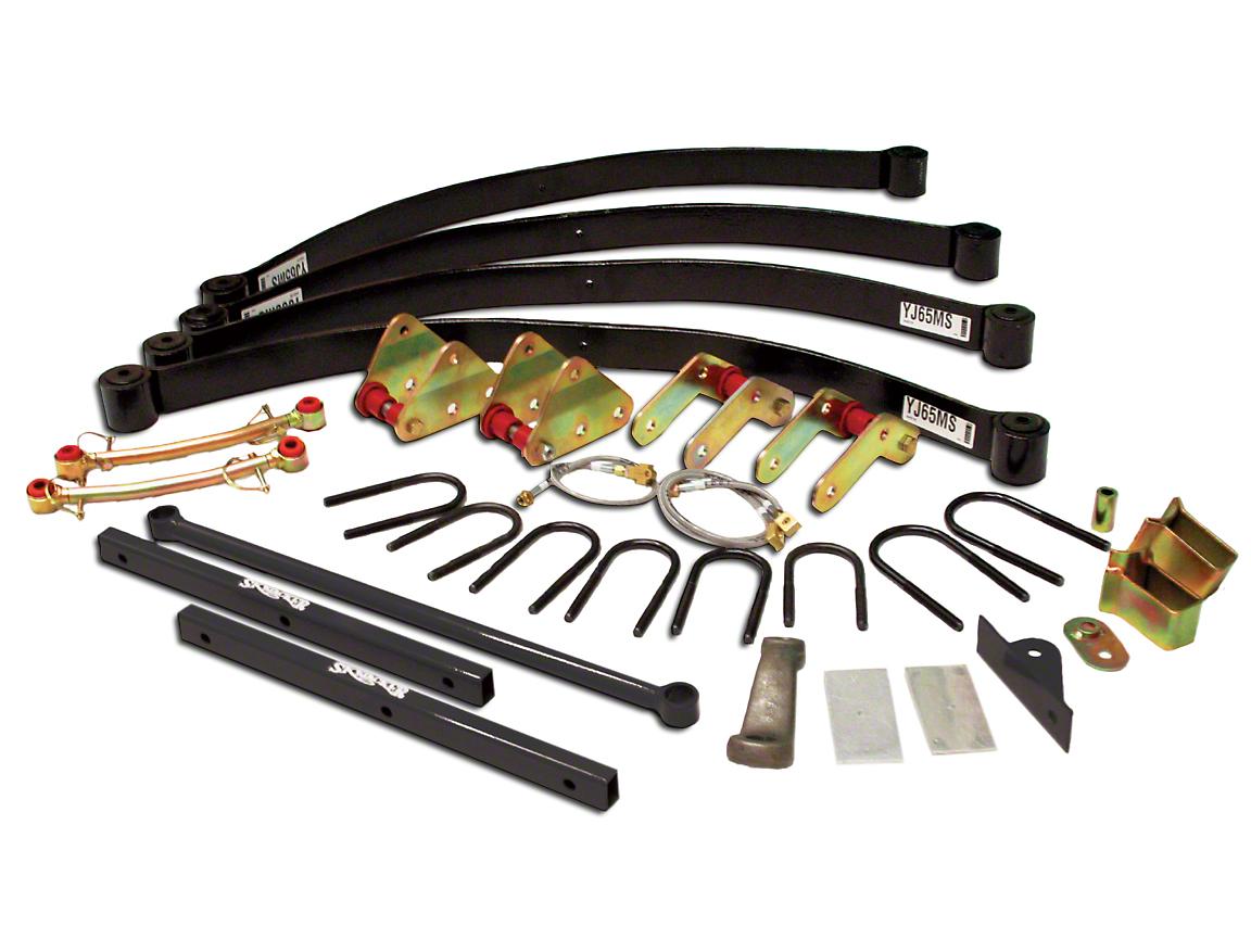 SkyJacker 6 in. Rock Ready Monolinear Suspension Lift Kit w/ Shocks (87-95 Jeep Wrangler YJ)