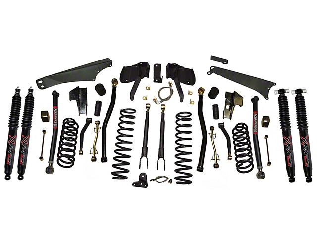 SkyJacker 4 to 5-Inch Long Arm Suspension Lift Kit with Shocks (07-18 Jeep Wrangler JK)