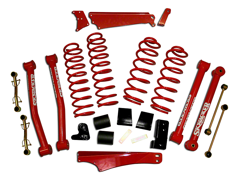SkyJacker 4 to 5-Inch Standard Suspension Lift Kit with Shocks (07-18 Jeep Wrangler JK 4 Door)