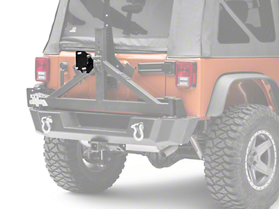 Rock-Slide Engineering Spare Tire Relocation Bracket - Textured Black (07-18 Wrangler JK)