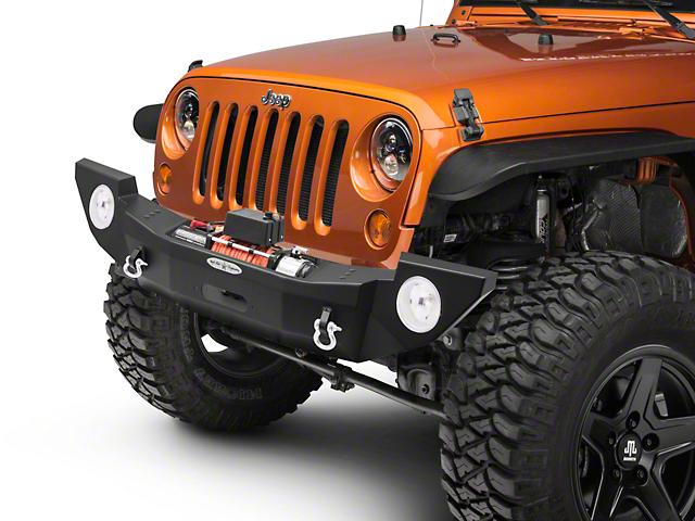 Rock-Slide Engineering Rigid Series Full Winch Front Steel Bumper (07-18 Jeep Wrangler JK)