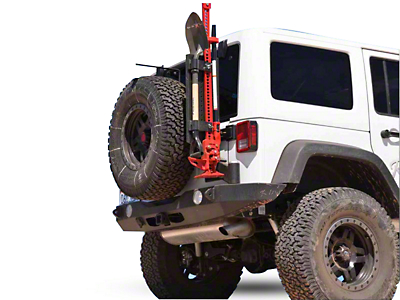 Rock-Slide Engineering Rigid Series Full Rear Aluminum Bumper w/ Tire Carrier (07-18 Wrangler JK)