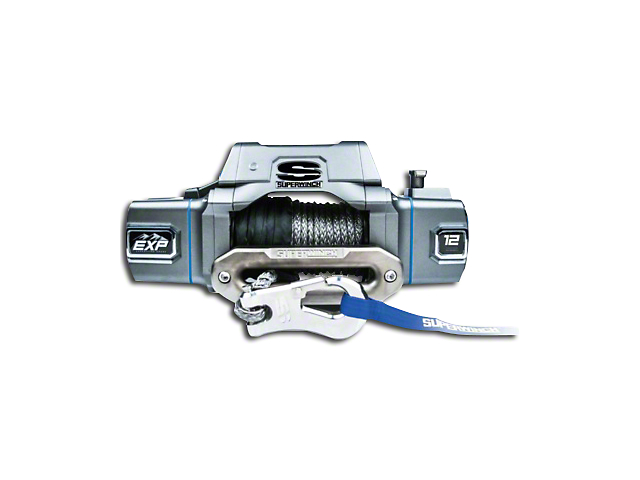 Superwinch EXP Series 12,000 lb. Winch w/ Synthetic Rope & Center Mount Solenoid Box
