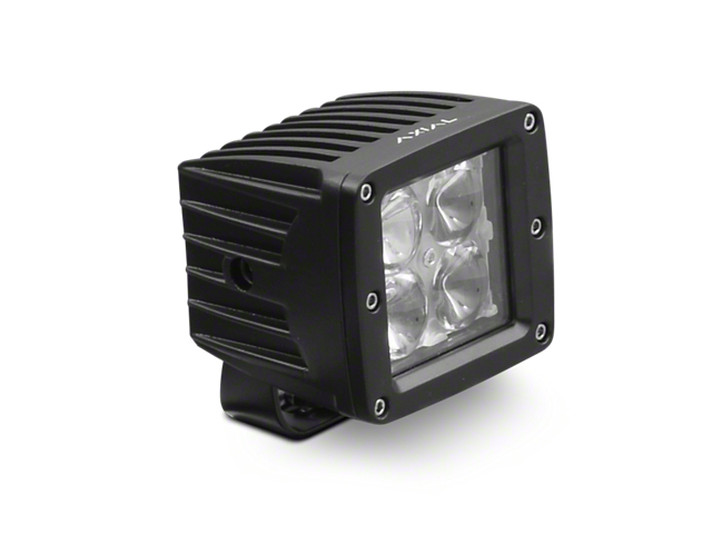 Axial 3-Inch 4-LED Cube Light; Flood Beam