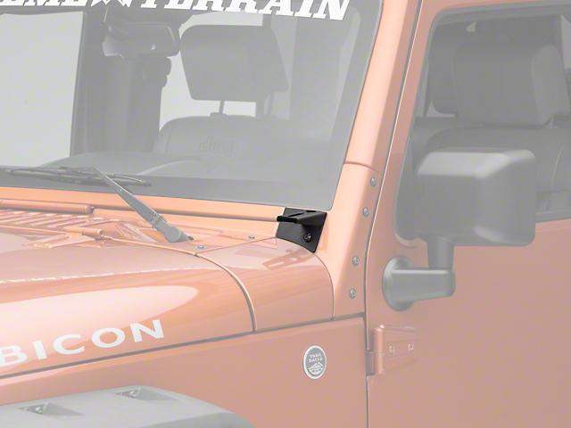 Axial Windshield Pillar Mounted Light Brackets (07-18 Jeep Wrangler JK)