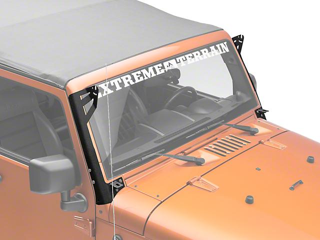Axial Single 50 Inch Windshield Pillar Light Bar Mount w/ Accessory Bracket (07-18 Jeep Wrangler JK)