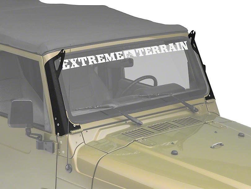 Axial Windshield Pillar Mounted Light Bar Brackets (97-06 Jeep Wrangler TJ)