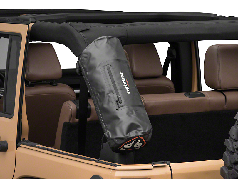 Rightline Gear Roll Bar Storage Bag - Black (87-18 Jeep Wrangler YJ, TJ, JK & JL)