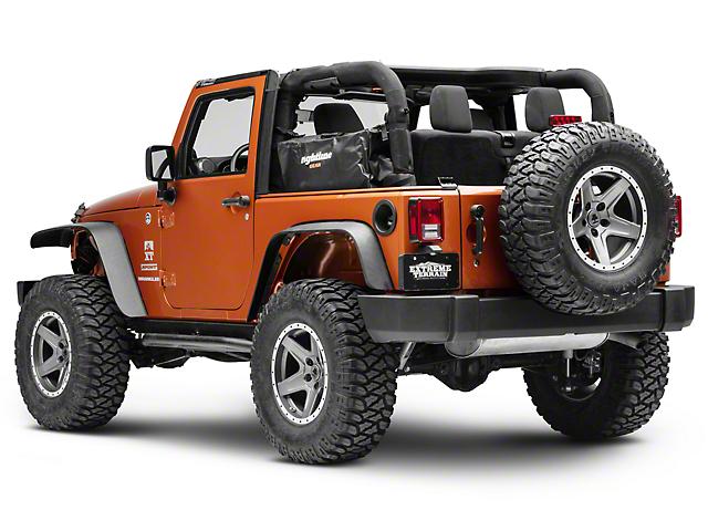 Rightline Gear Side Storage Bag - Black (07-18 Jeep Wrangler JK 2 Door)
