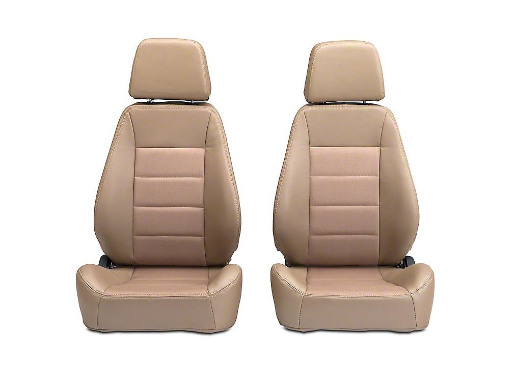 Corbeau Sport Seat Reclining Seat - Spice Vinyl/Cloth - Pair (87-18 Wrangler YJ, TJ, JK & JL)