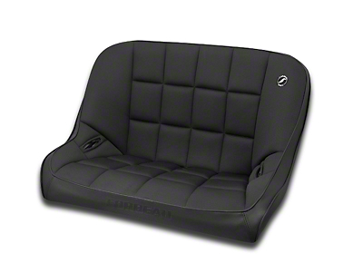 Corbeau 36 in. Baja Bench Suspension Seat - Black Vinyl/Cloth (87-95 Wrangler YJ)