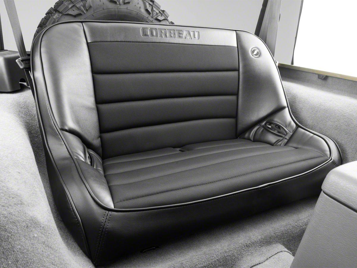 Excellent Corbeau 40 In Baja Bench Suspension Seat Black Vinyl Cloth 97 06 Jeep Wrangler Tj Ibusinesslaw Wood Chair Design Ideas Ibusinesslaworg