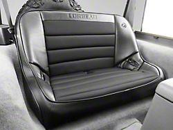 Corbeau 40-Inch Baja Bench Suspension Seat - Black Vinyl/Cloth (97-06 Jeep Wrangler TJ)