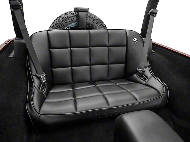 Corbeau 42 in. Baja Bench Suspension Seat - Black Vinyl (07-20 Jeep Wrangler JK & JL)