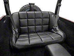 Corbeau 42 in. Baja Bench Suspension Seat - Black Vinyl (87-19 Jeep Wrangler YJ, TJ, JK & JL)