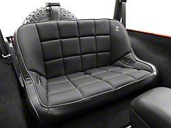 Corbeau 42 in. Baja Bench Suspension Seat - Black Vinyl/Cloth (87-19 Jeep Wrangler YJ, TJ, JK & JL)