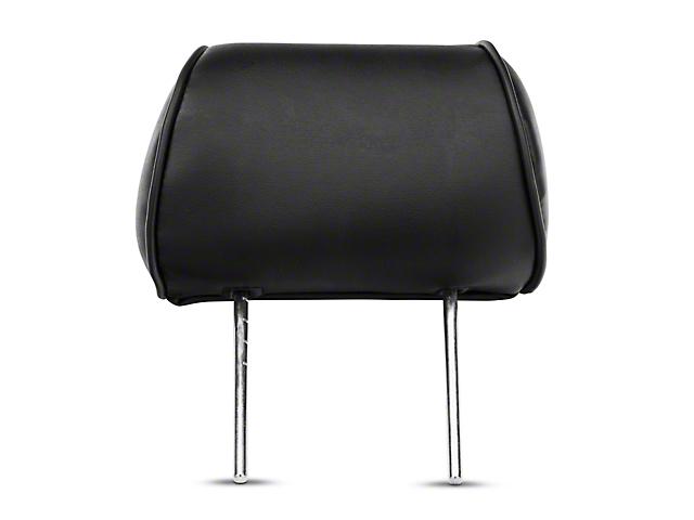 Corbeau Baja Bench Seat Headrest; Black Vinyl (87-20 Jeep Wrangler YJ, TJ, JK & JL)