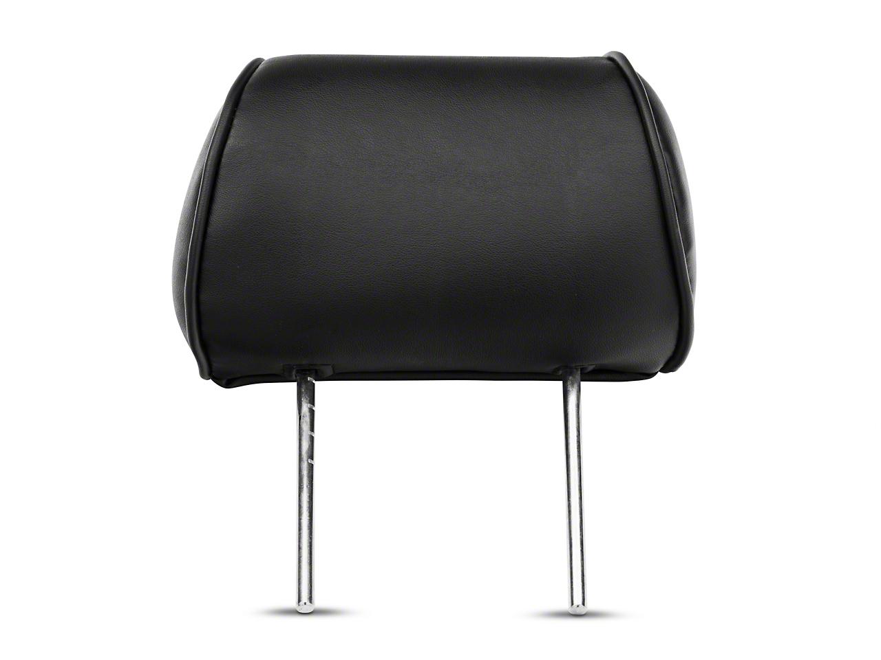 Corbeau Baja Bench Seat Headrest - Black Vinyl (87-18 Jeep Wrangler YJ, TJ, JK & JL)