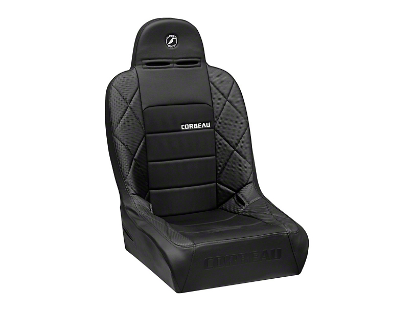 Corbeau Baja JP Wide Suspension Seat - Black Vinyl/Cloth (87-20 Jeep Wrangler YJ, TJ, JK & JL)