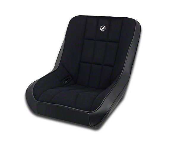 Corbeau Baja Low Back Suspension Seat - Black Vinyl/Cloth (87-19 Jeep Wrangler YJ, TJ, JK & JL)