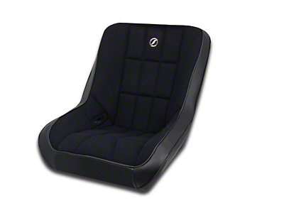 Corbeau Baja Low Back Suspension Seat - Black Vinyl/Cloth (87-18 Wrangler YJ, TJ, JK & JL)