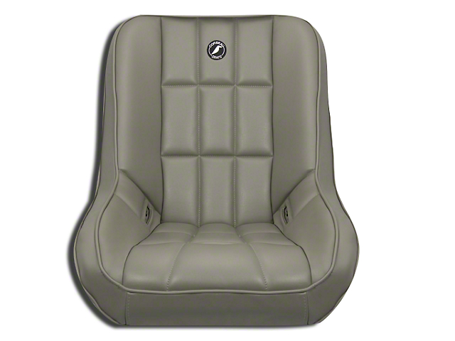 Corbeau Baja Low Back Suspension Seat - Gray Vinyl (87-18 Jeep Wrangler YJ, TJ, JK & JL)