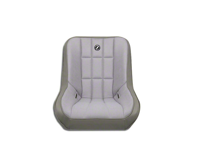Corbeau Baja Low Back Suspension Seat - Gray Vinyl/Cloth (87-18 Jeep Wrangler YJ, TJ, JK & JL)